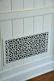 decorative wall grilles heating register perforated ceiling ideas wood vent registers black