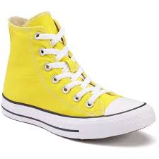 converse shoes yellow. adult converse all star chuck taylor high-top sneakers, unisex, size: med yellow shoes c