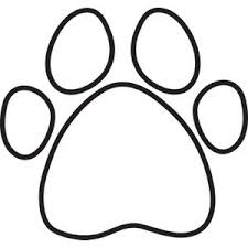 Small Picture Dog Paw Print Silhouette Clipart Free Clip Art Images Craft