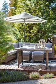 Better Homes And Gardens Off Set Umbrella With Solar Lights Ready Set Summer Outdoor Entertaining Ideas Fox Hollow