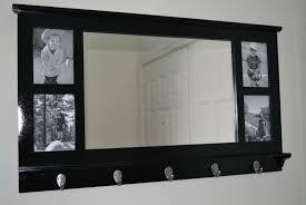 90 wall shelf with mirror and hooks chrome wall