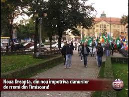 Protest cu torțe aprinse, împotriva mafiei țigănești, la, timișoara