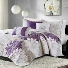 Buy California King Quilts from Bed Bath & Beyond & Madison Park Lola 6-Piece King/California King Coverlet Set in Grey/Purple Adamdwight.com