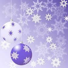 Purple Christmas Card Christmas Card Purple Christmas Tree Balls On A Purple Background