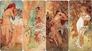 alphonse mucha four seasons 1896 image copyright of alphonse mucha estate artists