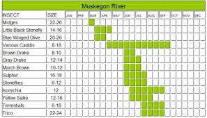 Pere Marquette River Hatch Chart Muskegon River Hatch Chart