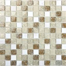 cream stone and glass mosaic sheets kitchen backsplash le glass tiles bathroom wall decor m313
