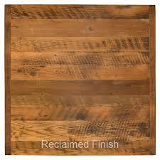 table top 36 square reclaimed barn wood restaurant