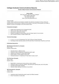 Example Resume For High Templates College Singular Application