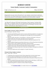 Software Qa Manager Resumes Senior Quality Assurance Analyst Resume Samples Qwikresume