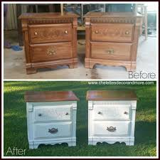 painting old furnitureNightstand  Astonishing Epf Ns Refinished Nightstand European