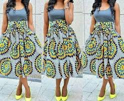 African Skirts Patterns Magnificent African Clothing African Skirt African Fabric High Waist Midi