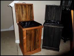 30 gallon trash can wood garbage dog food