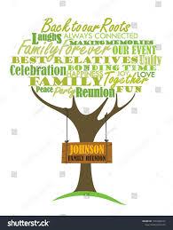 Family Reunion Poster Design Family Reunion Design Word Cloud Element Stock Vector