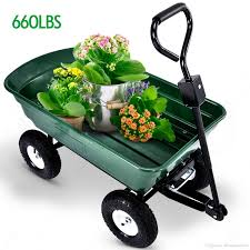 2018 heavy duty garden dump cart dumper wagon carrier utility wheelbarrow air tires max 660 lbs from dhmakepossible 58 3 dhgate com