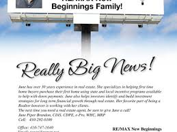 June Piper Brandon Is Now A Re Max New Beginnings Realtor