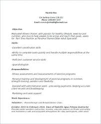 Resume For Personal Trainer Enchanting Personal Trainer Resume Template 48 Free Word Document Fitness