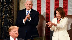 Image result for trump and pelosi state of the union address