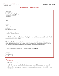 Management Resignation Letter Free Professional Resignation Letter Templates At
