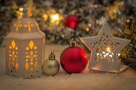 christmas deco ball snow lantern