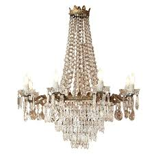 antique bronze and crystal chandelier at 1stdibs bronze crystal chandelier