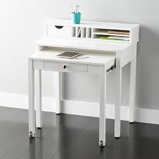 white gray solid wood office. White Solid Wood RollOut Desk Gray Office H