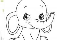 Cute Baby Elephant Coloring Pages With Dot To Random R4card Org 8