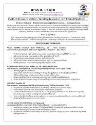 Welding Apprentice Sample Resume Classy Entry Level Welder Resume Sample Ryan Becker Welding 48 48 Cb Simple