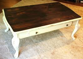 how much does a coffee table cost little bit of paint refinished furniture refinish whalen costco