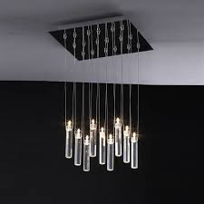 contemporary glass chandeliers led