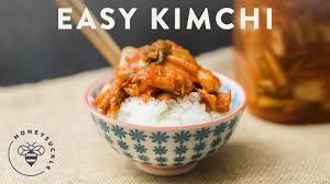 Easy kimchi recipe using the blender! Easy Kimchi Recipe Honeysuckle Youtube