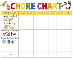 Free Printable Chore Chart For 4 Year Old Chore Chart For Kids Chore Chart The Paro Post Chore