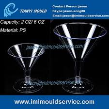 ps 6oz disposable plastic margarita glass and cup mould large plastic martini glasses mold