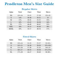 Vintage Pendleton Size Chart Pendleton L S Board Shirt Zappos Com