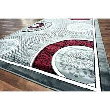 rug grey incredible and red area rugs gy modern gray black brahim g