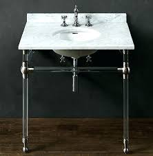 Restoration Hardware Sink Th Faucet Vanities Powder Room Vanity Modern Bath   Rounded Metal Console  E61