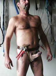 Naked hairy construction workers