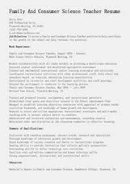 This Free Sample Family And Consumer Science Teacher Resume Will