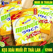 Kẹo Xoài Muối Ớt Hartbeat Thái Lan 120g - Đồ Ăn Vặt Nội Địa - Đồ Ăn GIá Rẻ  - Bánh Kẹo Thái Lan - Kivo