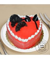Order Strawberry Cake 1 Kg Heart Shaped Online Indiacakes
