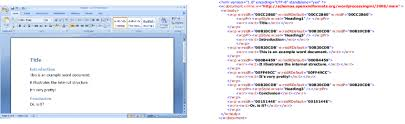 Example Word Documents An Example Microsoft Word Document Rendered On The Screen And Its