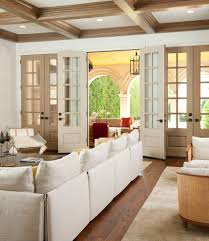 interior sliding french door. Interior Sliding French Doors Family Room Mediterranean With Contemporary Beige Rug Door