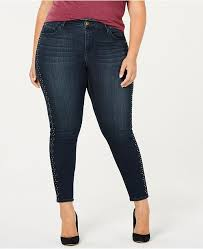 Seven7 Jeans Size Chart Seven7 Trendy Plus Size Studded Skinny Jeans