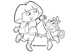 Dora Kleurplaat Dora En Boots Nickelodeon Kleurplaten