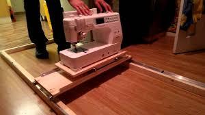 Handmade Machine Quilting Frame - YouTube &  Adamdwight.com