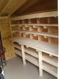 shed workbench and shelves more