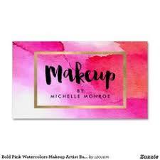 bold pink watercolors makeup artist business card good makeup artist business names