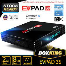 Datz] Evpad 3S Android Streaming TV Box 2GB + 8GB Live Channel Malaysia  Edition