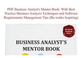 Business Analysis Software Free Download Pdf Free Download Business Analysts Mentor Book With Best