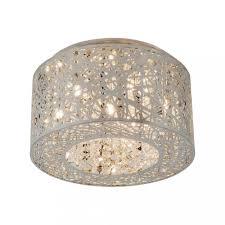 7 lights bird nest 16 flush mount ceiling light fixture inca laser cut shade crystal